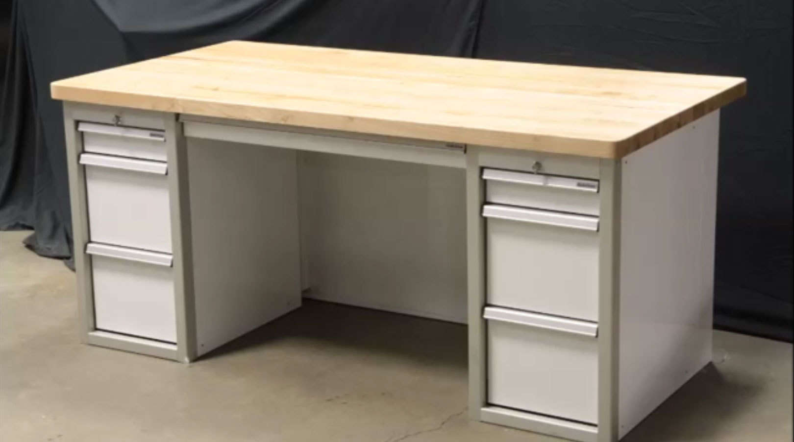 Garage Desk Cabinet Featuring QuikDraw® Video