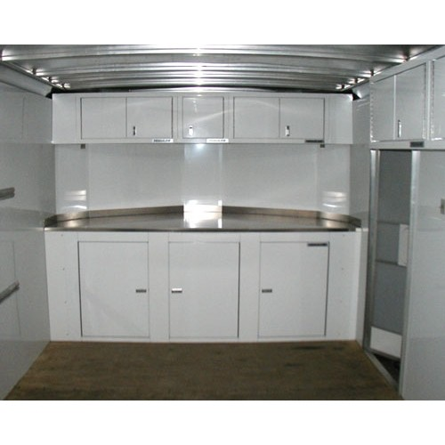 16 Series Aluminum Wall Cabinets In A Trailer