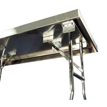 Aluminum Folding Table For Trailer Wall Storage