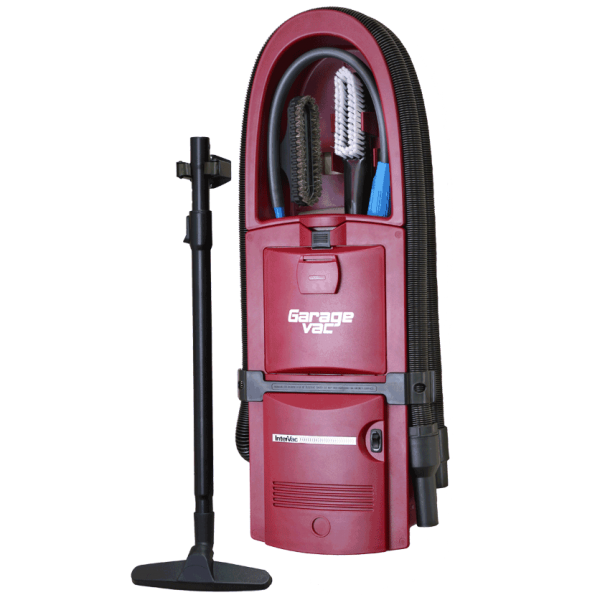 Red Flush Mount Garage Vacuum