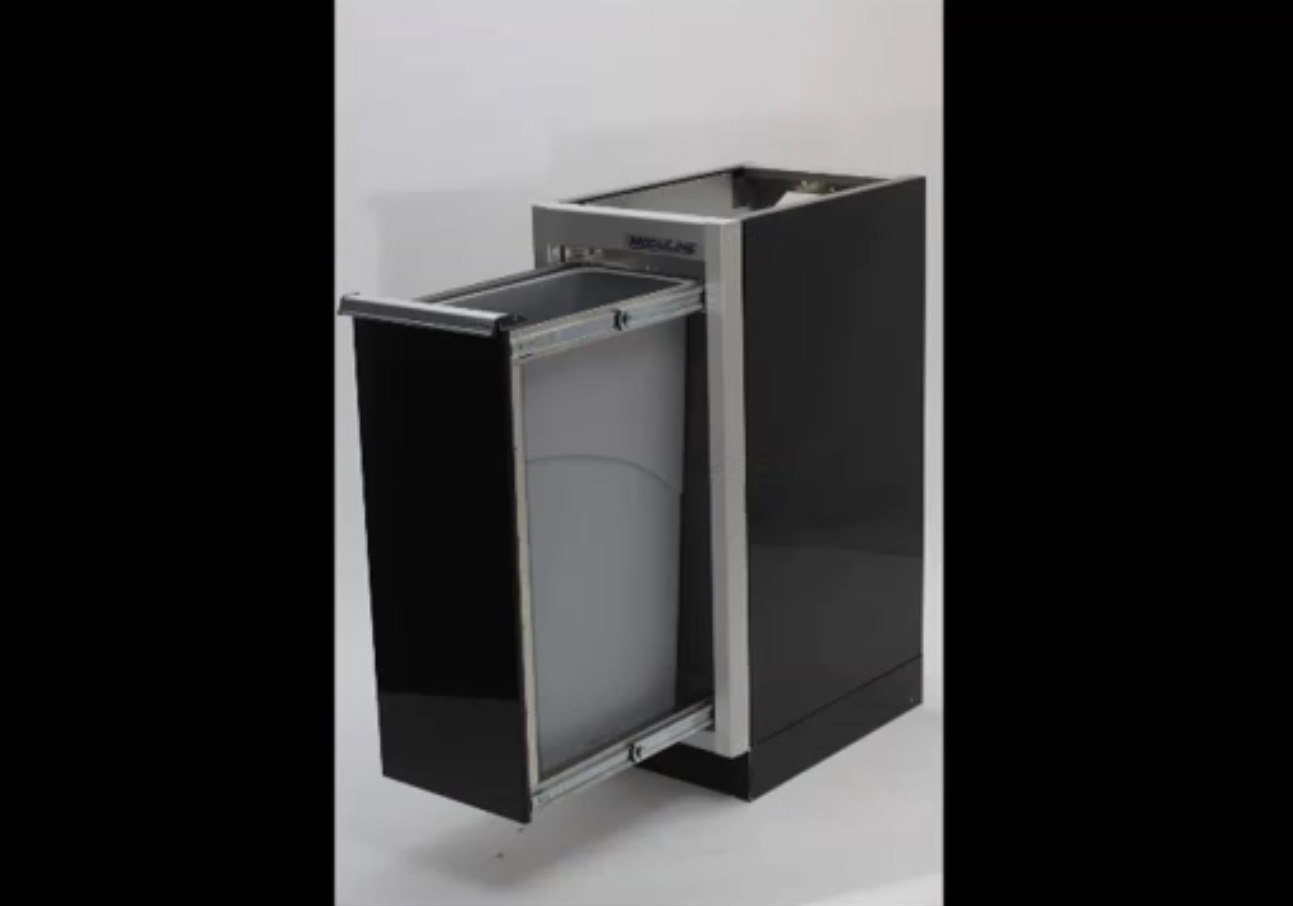 ProII™ Garage Aluminum Recycle & Waste Bin Video
