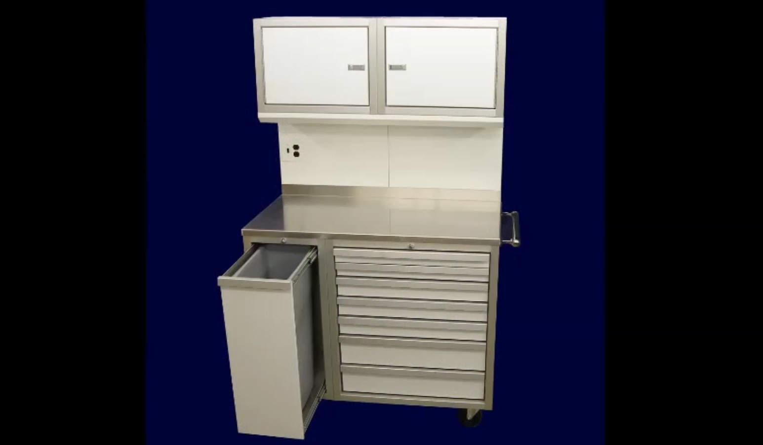 Garage Aluminum Mobile Workstation Cabinets