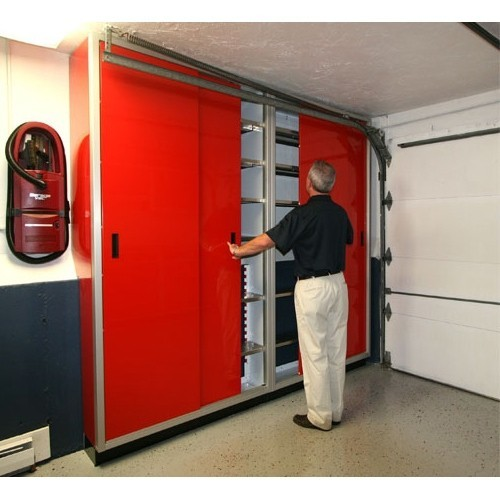 Red Space Saver Closets In Garage
