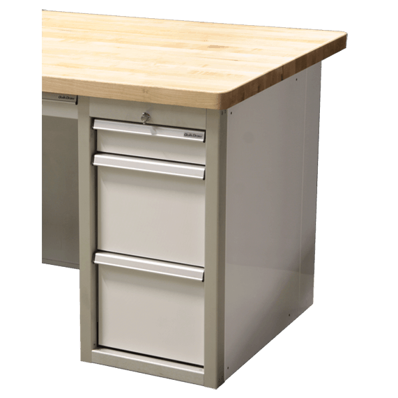 Butcher Block Countertop For 3-Drawer File Cabinets