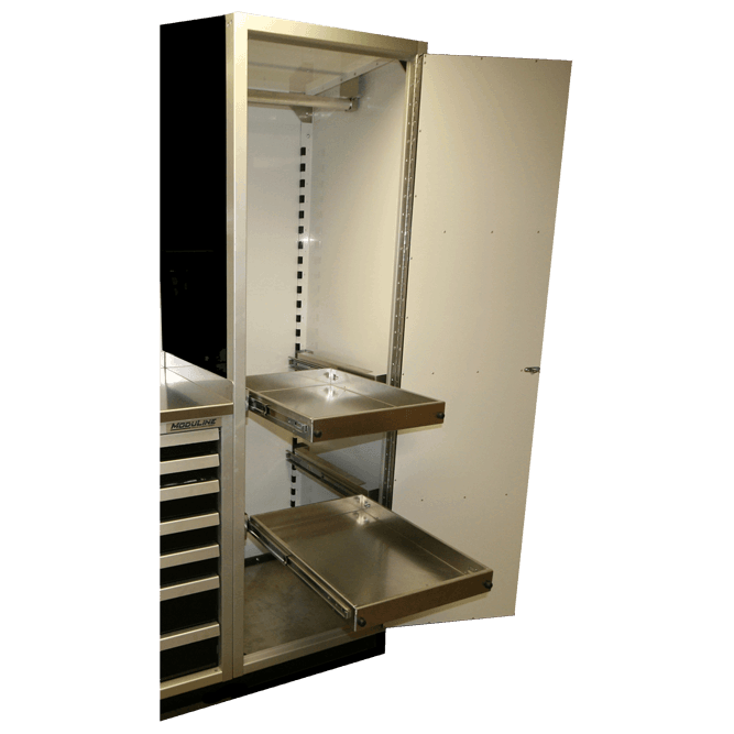 ProII™ Aluminum Cabinets & 24x36 Pull Out Shelf