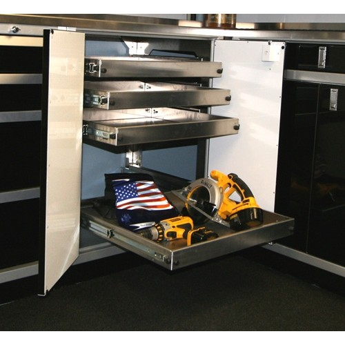 ProII™ Aluminum Garage Cabinets & 24x36 Shelf