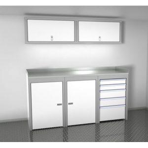 SportsmanII Aluminum Trailer And Vehicle Cabinet Combination 72″ Wide #SPTC006-040