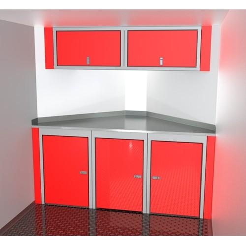 Sportsman II™ Aluminum V-Nose Trailer Cabinet Combination SPTC007-110