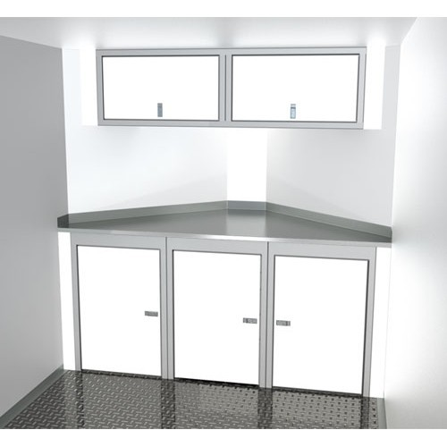 "Sportsman II™ Aluminum Trailer Cabinet Combination 6'-7' Wide, Up To 32"" Deep V-Nose #SPTC007-110"
