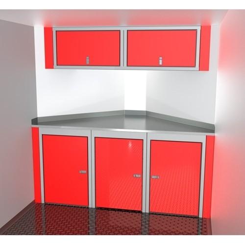 "Sportsman II™ Aluminum Trailer Cabinet Combination 6'-7' Wide, Up To 44"" Deep V-Nose #SPTC007-120"