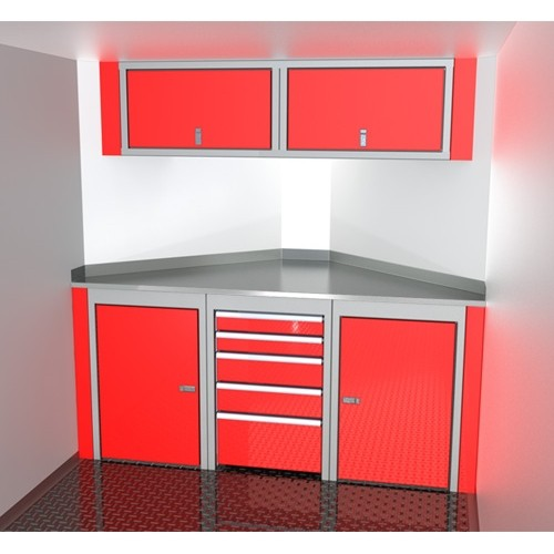 Sportsman II™ Aluminum V-Nose Trailer Cabinet Combination SPTC007-130