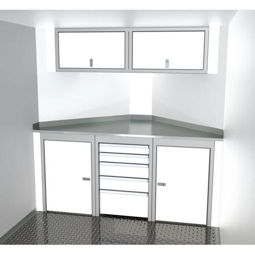 "Sportsman II™ Aluminum Trailer Cabinet Combination 6'-7' Wide, Up To 32"" Deep V-Nose #SPTC007-130"