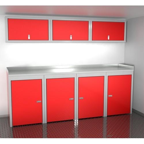 "Sportsman II™ Aluminum Trailer And Vehicle Cabinet Combination 96"" Wide #SPTC008-010"