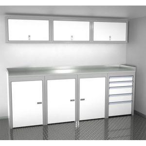 SportsmanII Aluminum Trailer And Vehicle Cabinet Combination 96″ Wide #SPTC008-020
