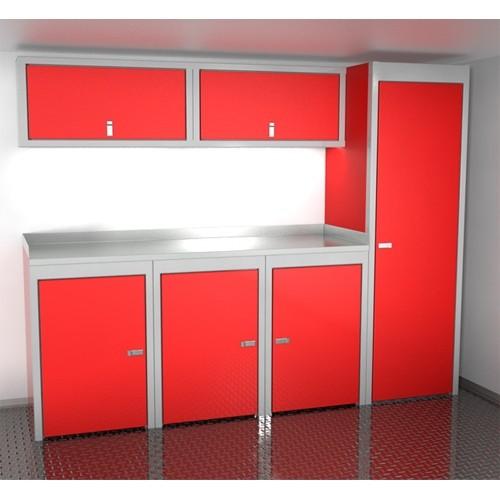 "Sportsman II™ Aluminum Trailer And Vehicle Cabinet Combination 96"" Wide #SPTC008-030"