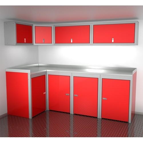 "Sportsman II™ Aluminum Trailer And Vehicle Cabinet Combination 96"" Wide #SPTC008-050"