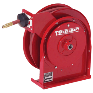 Reelcraft 4625OLP, Premium Duty, 3/8 X 25 Ft., 300 Psi, Air/Water Hose Reel With Hose
