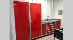 Moduline Storage Cabinets in Plane Hangar