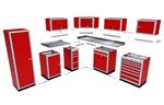 Modular Garage and Shop Aluminum Cabinets
