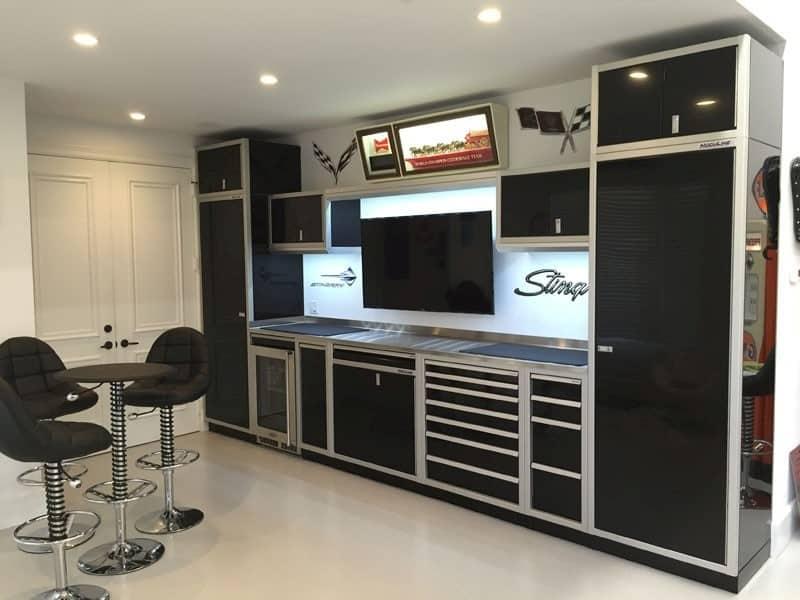 Black Aluminum Garage Wall Storage Systems