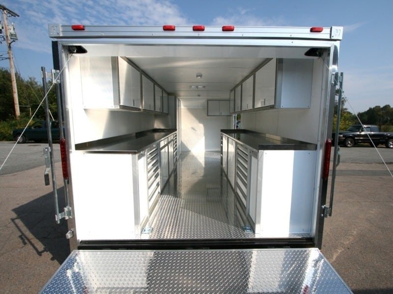 Enclosed Trailer and Vehicle Aluminum Cabinets