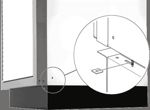 Moduline Cabinets Adjustable Toe Kick