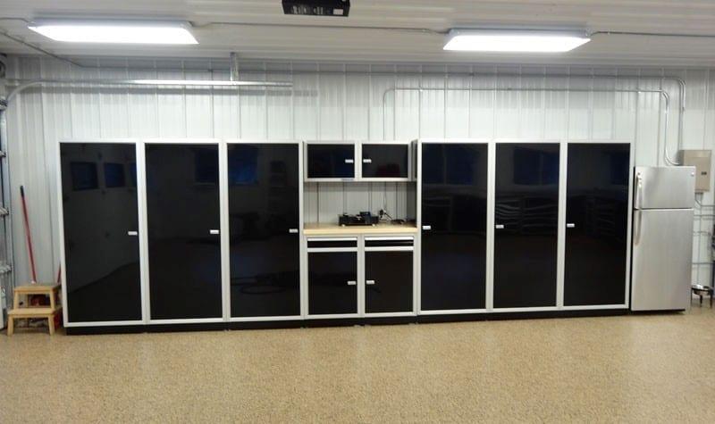 Moduline Black PROII™ Aluminum Garage Cabinets