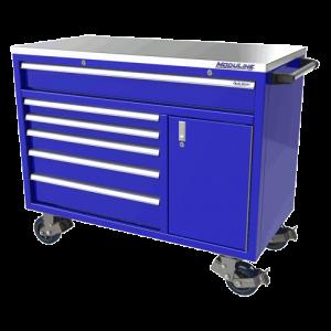 QuikDraw® 48″ Aluminum Tool Box With 6 Drawers, 1 Door