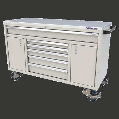 "Moduline Light Gray 60"" Wide QuikDraw® Aluminum Tool Box"
