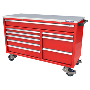 QuikDraw® 60″ Aluminum Tool Box With 9 Drawers