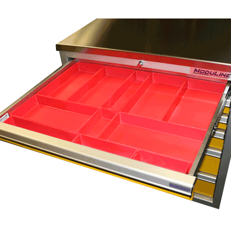 Plastic Drawer Bins For Large Parts For Moduline Drawers