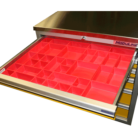 Plastic Drawer Bins For Small Parts For Moduline Drawers
