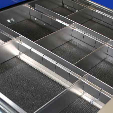 Moduline Aluminum Drawer Dividers for Tool Boxes