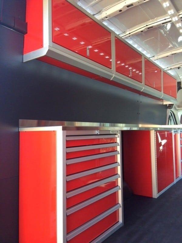 Lightweight Aluminum Cabinets for Sprinter Van