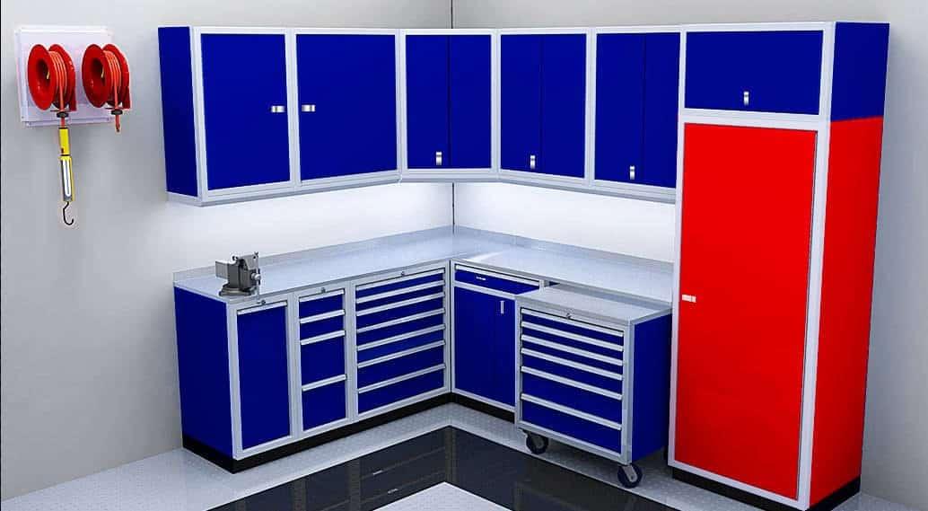 Moduline Aluminum Tall Storage Closet Cabinets
