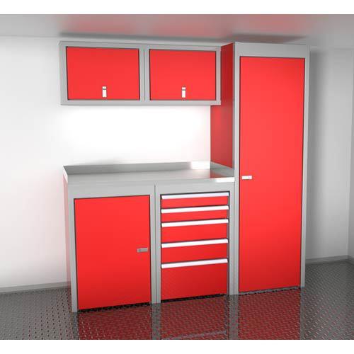 Red 6 Foot Wide Sportsman II™ Cabinet Combination SPTC006-060