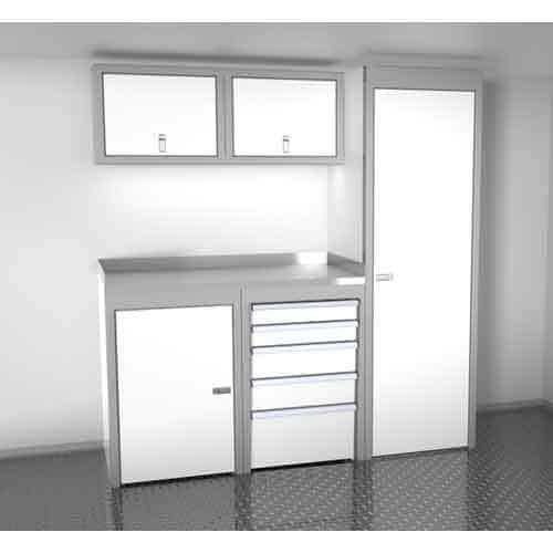 White 6 Foot Wide Sportsman II™ Cabinet Combination SPTC006-060