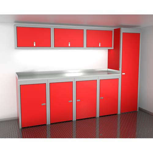 Red 10 Foot Wide Sportsman II™ Cabinet Combination SPTC010-020