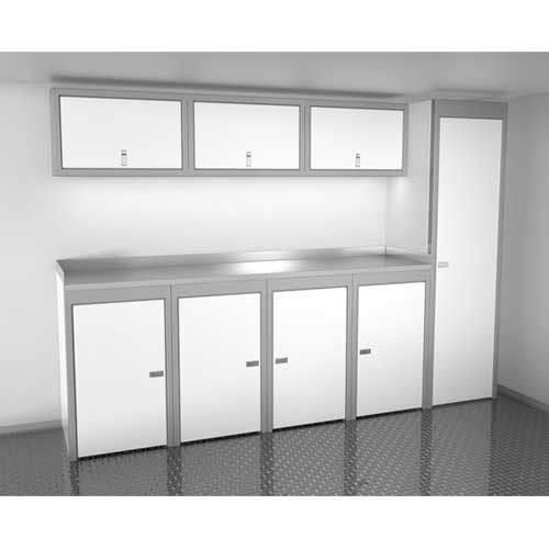 White 10 Foot Wide Sportsman II™ Cabinet Combination SPTC010-020