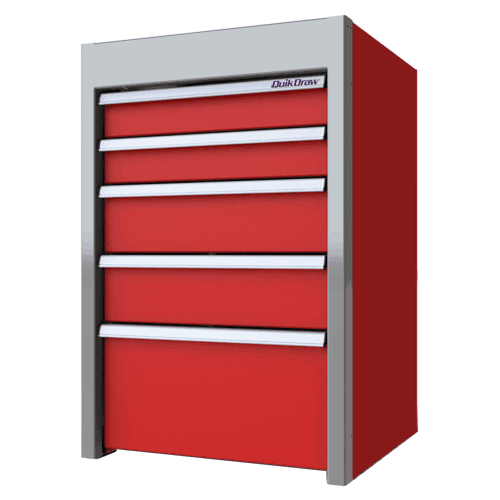 """Red Sportsman II™ Built-In Tool Box 36""""H X 24""""D X 24""""W"""
