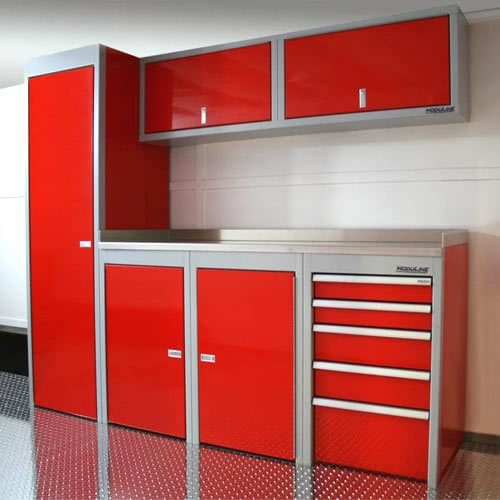 Red Sportsman II™ Aluminum Cabinets And Countertop