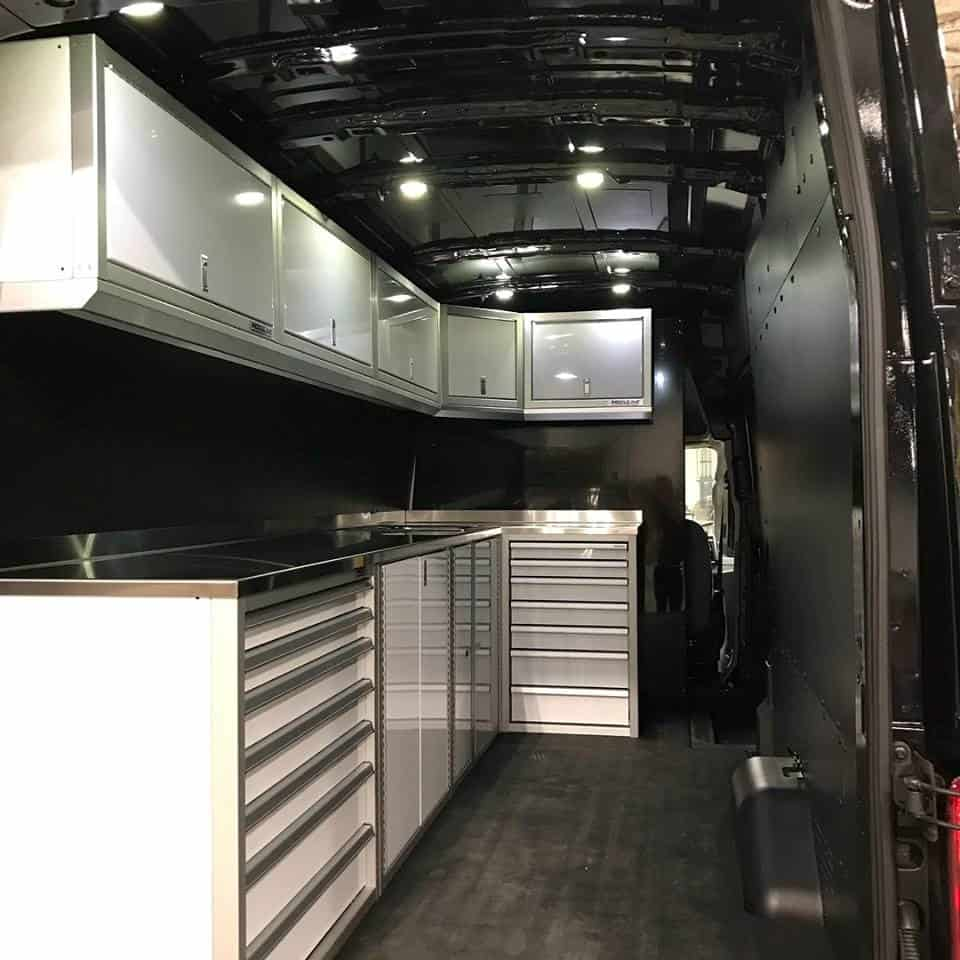 Moduline Cabinets Enclosed Trailer Storage & Organization