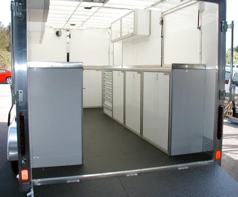 Enclosed Trailer Lightweight Aluminum Cabinets for Storage