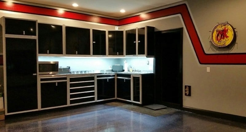 Moduline Cabinets High-Alloy Aluminum Garage Storage Layouts