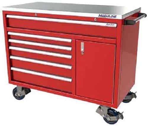 """Moduline 48"""" Aluminum Toolbox Design in Red"""