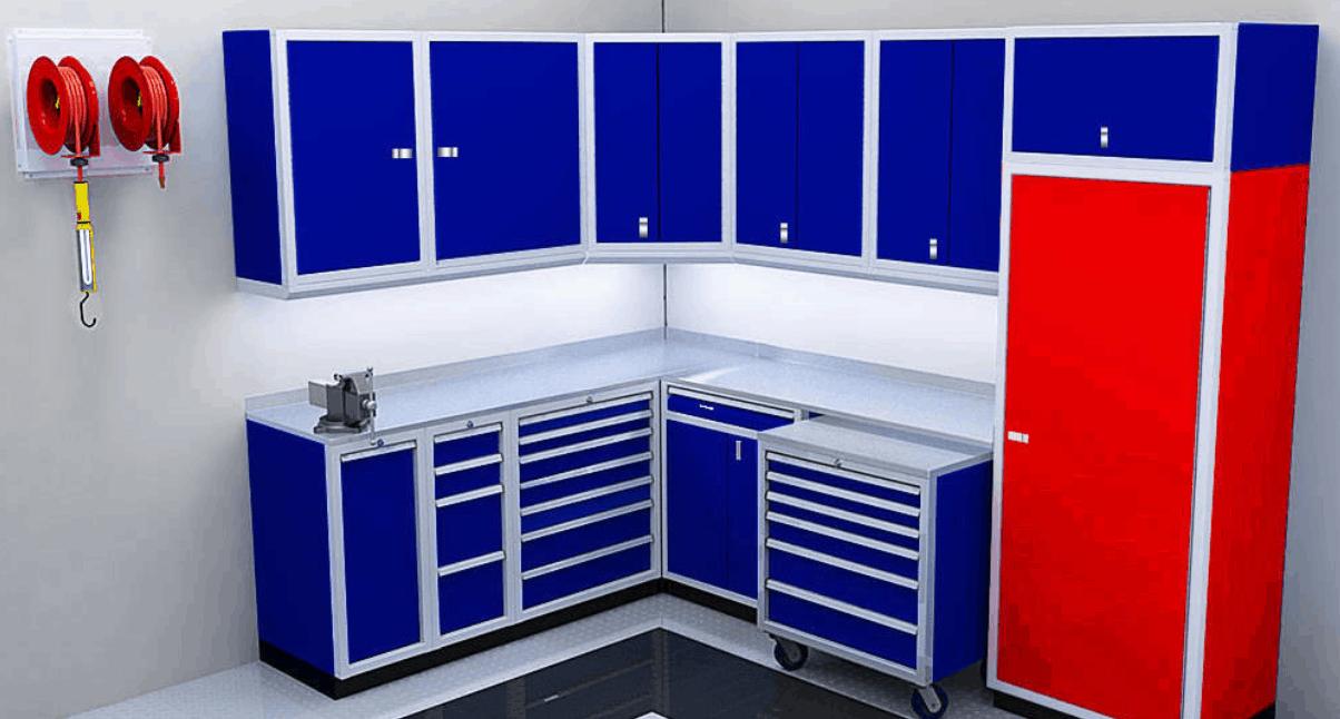 Closet Tall Garage Organization Moduline Cabinets